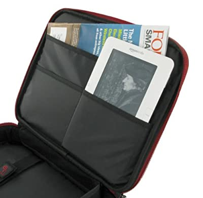 rooCASE Tablet Carrying Bag for ViewSonic ViewPad 10 10.1-Inch Dual Boot Tablet - Classic Series Red / Black