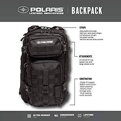Polaris 17-Inch Military Tactical Backpack, Army-Style Rucksack for Outdoor Hiking, Camping, Trekking and Hunting