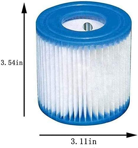 3.11 x 3.54 inches SLSM for Bestway Type I Pool Filter Cartridge,High-Efficiency Filter Elements,530 Gallon Pump Filter Cartridge for Pool Cleaning