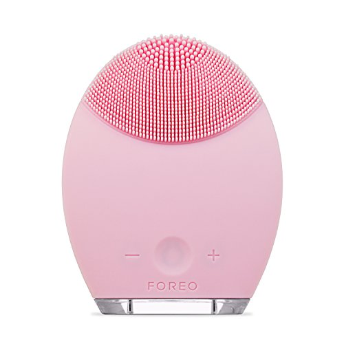 Cheap FOREO LUNA Face Exfoliator Brush and Silicone Cleansing Device for Sensitive/Normal Skin, Pink