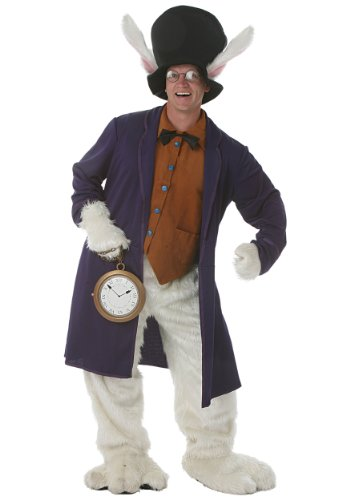 White Rabbit Adult Costume (Male Alice In Wonderland Costume)