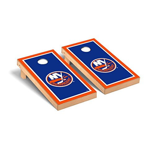 New York Islanders NHL Regulation Cornhole Game Set Border Version by Victory Tailgate