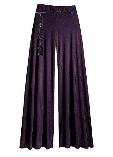 motivi e Palazzo viscosa donna colori diversi Purple pantaloni Aubergine in in Uq8rZU0