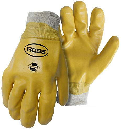 (Boss Mfg Co Glove Hd Pvc Lned Knit Wrist L 930)