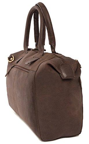 LEABAGS Baltimore bolso de mano de auténtico cuero búfalo en el estilo vintage - NuezMoscada NuezMoscada