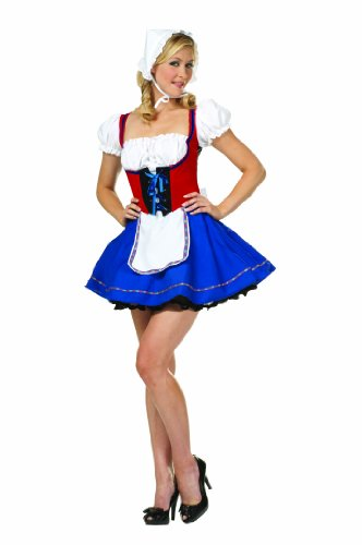 Swiss Miss Adult Costumes - RG Costumes Women's Swiss Miss, Red,