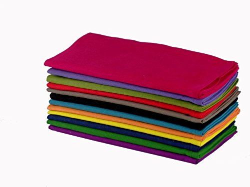 Cotton Craft Dinner Napkins, 20 by 20-Inch, Pack of 12, Multi-Colors (Cotton Napkin)