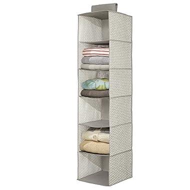 mDesign Chevron Sweater Organizer - 6 Shelves
