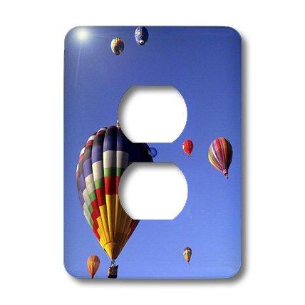 3dRose Lsp_92523_6 Hot Air Balloons, Albuquerque, New Mexico - Us32 Bba0010 - Bill Bachmann 2 Plug Outlet Cover