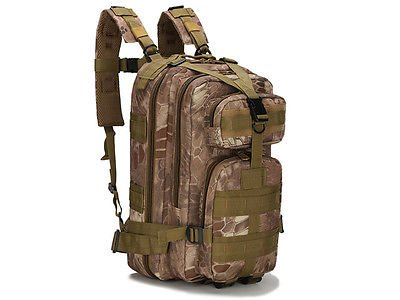 Tactical Rucksack Clamshell Backpack Camping