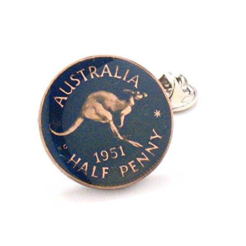 Australia Coin Tie Tack Lapel Pin Kangaroo Aussie Australian Sydney Perth Pacific Polynesian