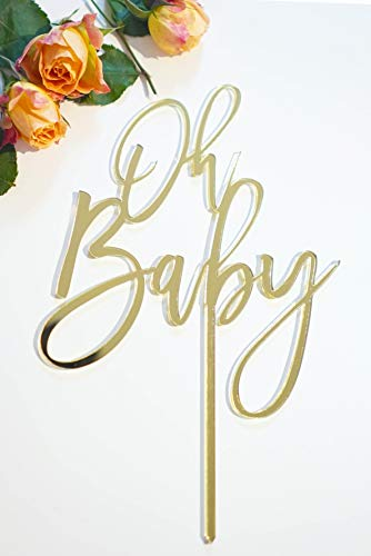 Celebrate Life Designs Baby Shower Cake Topper Gold