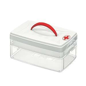 Snips Caja con tapa para guardar medicamentos en la nevera (3 l), color blanco y negro