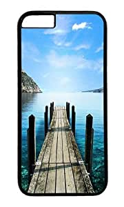 iPhone 6 Plus Case,VUTTOO Stylish Road To Lake Hard Case For Apple iPhone 6 Plus (5.5 Inch) - PC Black