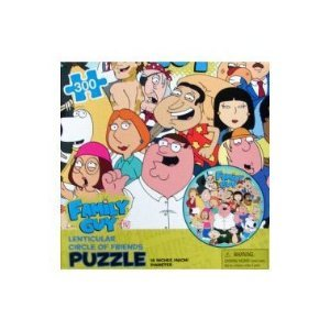 Family Guy Lenticular Circle of Friends 300pc. Puzzle