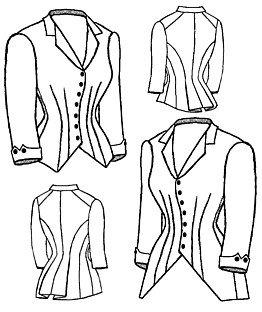 1880 Jacket Bodice Pattern ()