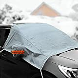 XIANGHUi Car Windscreen Cover, Car Cover Window Cover Frost Cover Winter Cover Windscreen Ice Protection Film Windscreens Winter Protection Snow Guard Ice Protection Gray