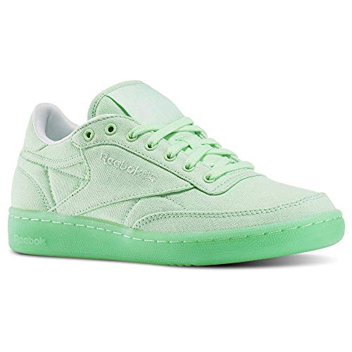 Running Canvas Reebok Shoe C Green White Women's 85 Club Mint wxq4Pg