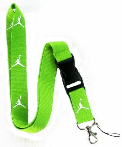 Michael Jordan Lanyard Jumpman Green / White Keychain Holder