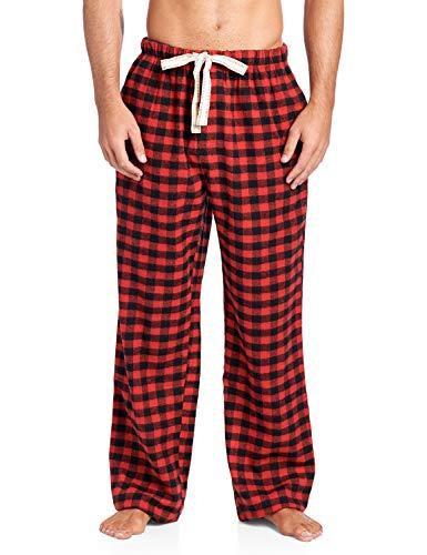 (Ashford & Brooks Mens Super Soft Flannel Plaid Pajama Sleep Pants - Red Check - 2X-Large)