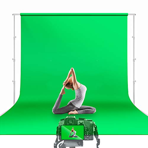 Julius Studio 10 x 12 ft. Green Screen Chromakey Backdrop Photo Video Studio Fabric Background for Movie, Photography Studio Streaming, JSAG474