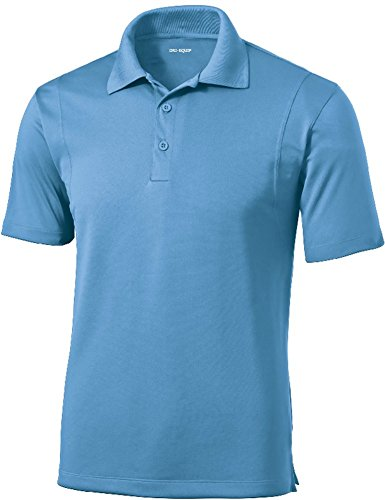 DRI-Equip(tm) Mens Tall Moisture Wicking Micropique Golf Polo-Blue ()