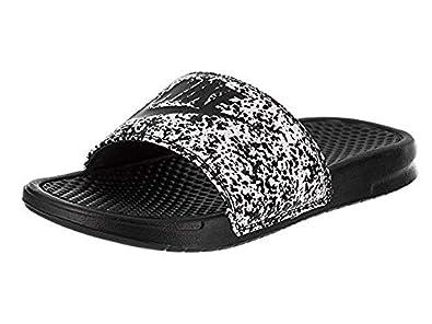 Nike Benassi JDI Mens Sandals WhiteBlack 343880 100 (7 D(M) US)