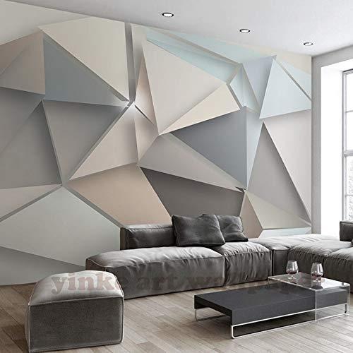 yishuqiang Papier peint mural papier peint personnalis/é Photos Papier peint 3d Triangle st/ér/éo moderne 3d grande murale s/éjour canap/é TV fond
