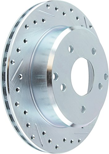 Rotor Stoptech Front Slotted (StopTech 227.46042L Select Sport Drilled and Slotted Brake Rotor; Front Left)