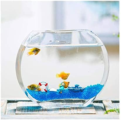 クリエイティブ水族館水槽、魚型エコデスクトップ金魚タンク、生態ボトルホームデコレーション(12 * 5 * 21センチメートル)