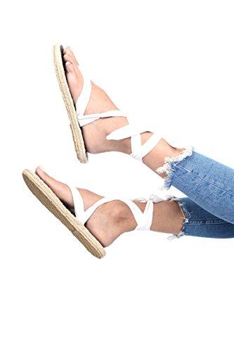 Nalho Sandales Espadrilles De Yoga Pour Femmes, Karabi Blanc
