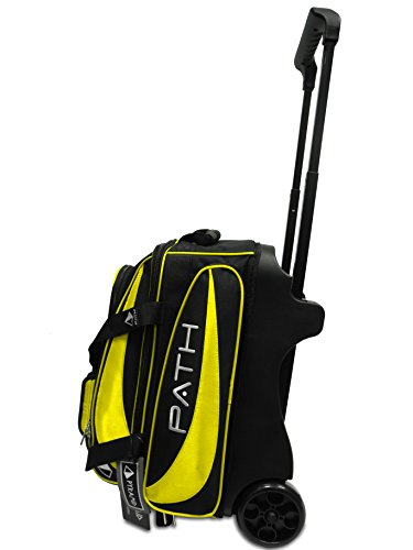 Pyramid Path Premium Deluxe Double Roller Bowling Bag (Black/Gold) For Sale