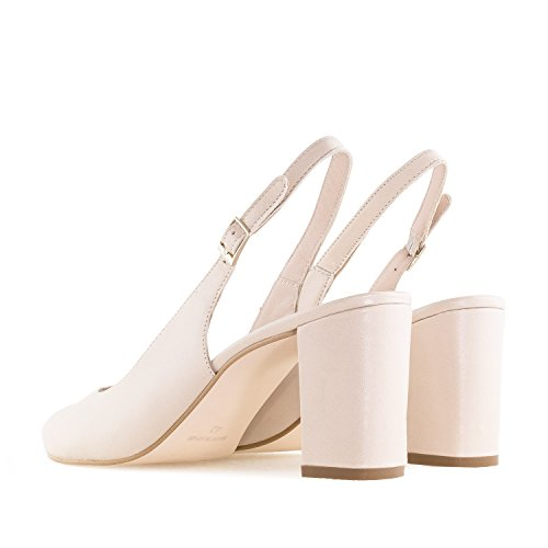 Nappa Sizes amp; in Stilettos in Nappa Slingback Spain Made Claudia Leather Beige Petite Leather Machado Andres Large qZUv8