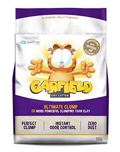 Garfield Cat Litter Ultimate Clump, All Natural, Fast Clumping, Good for Multi-Cat Homes, Small Grains, 10 lb