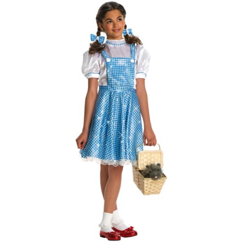 Deluxe Sequin Dorothy Costumes (Girls Deluxe Dorothy Costume - Child Large)