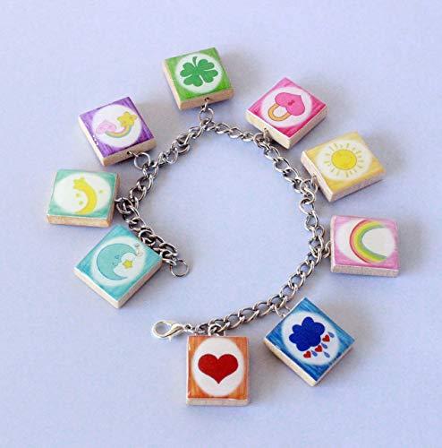 Care Bears Inspired Scrabble Tile Charm Bracelet ()