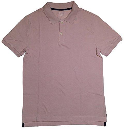 Gap Pink Shirt - GAP Men's Solid Color Polo Shirts (M, Light Pink)