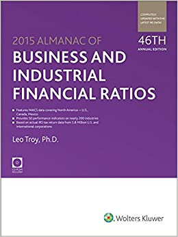 Almanac of Business & Industrial Financial Ratios (2015) (Almanac of Business and Industrial Financial Ratios)