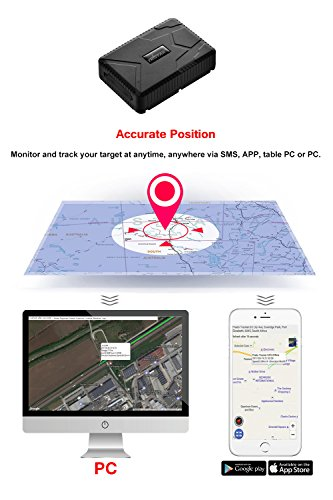 GPS Tracker for Vehicles, ZEERKEER Magnetic Car GPS Tracker, 120 Days Long Standby Waterproof Real-Time Anti-Theft Hidden Tracking Device for Vehicles, Motorcycle, Trucks and Boats (Support 3G)