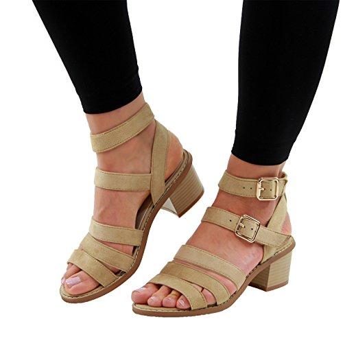 Generic - Zapatos con tacón mujer Beige