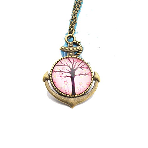 [Pop Wild Hot Tree of Life Time Gemstone Pendant Necklaces] (Make Imperial Guard Costume)
