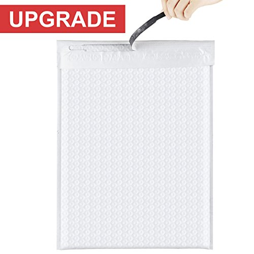 Open Poly Envelope (Fu Global Bubble Mailers 10.5x16 Inches #5 Easy Open Poly Padded Envelopes with tear strip White Pack of 25)