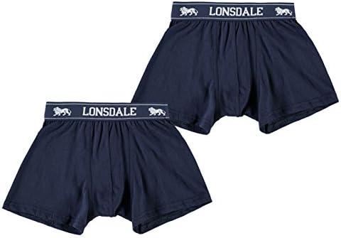 トランクス キッズ 男の子 下着 2枚セット Lonsdale Boys 2 Pack Trunk Junior Boys