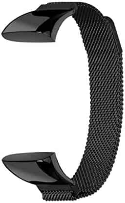 Tonsee Milanese Magnetic Stainless Steel Loop Replacement Strap with Magnetic Closure for Xiaomi AMAZFIT cor2 Watch