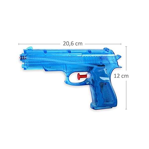 Schramm® 3 Pezzi Pistole ad Acqua Classiche Pistole ad Acqua da ca. 20,6 cm Pistola ad Acqua 2 spesavip