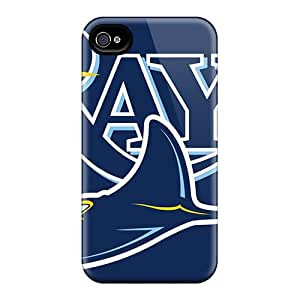 Great Cell-phone Hard Covers For Iphone 4/4s (vgD15073toSv) Support Personal Customs HD Tampa Bay Rays Pattern