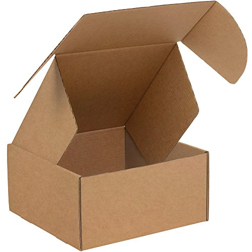 Boxes Fast BFMFL12126K Deluxe Literature Cardboard Mailers, 12 x 12 x 6 Inches, Corrugated Die-Cut Shipping Boxes, Large Brown Kraft Mailing Boxes (Pack of 50)