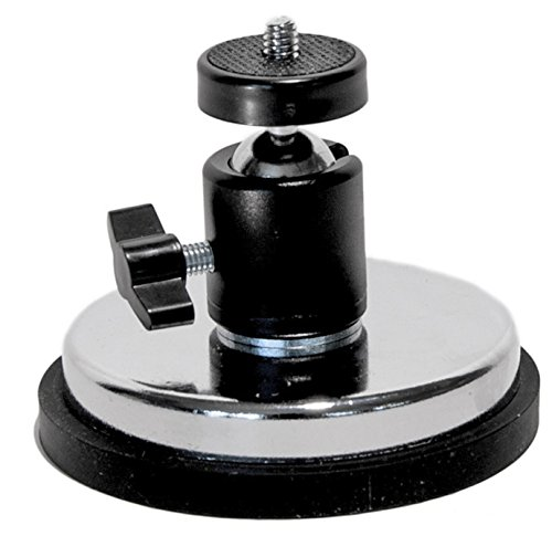 Livestream Gear - Rubber Coated Magnetic Phone Mount w/Ball Head - You Attach What You Want. Great for Video, Pictures, Livestreaming, or WOD. (XL Magnet & Ball Head)