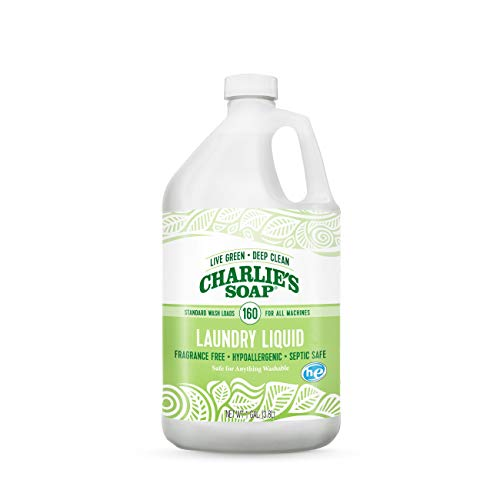 - Charlie's Soap Laundry Liquid Gallon, 128 Ounce , Packaging may vary.