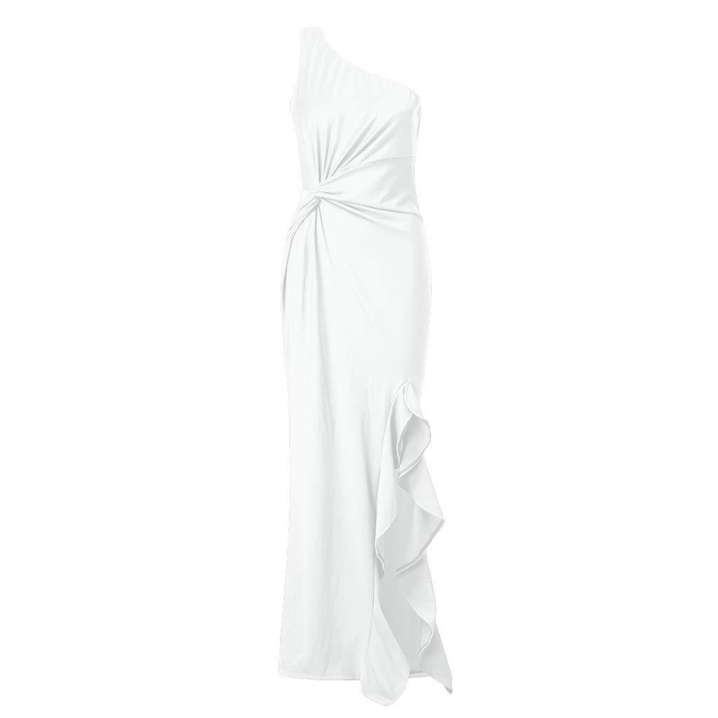 K-Youth/® Vestidos de Fiesta Mujer Largos Vestido de Fiesta para Bodas Larga Elegante Vestido de Mujer Casual Moda Ropa de Fiesta Sin Manga Vestido de C/óctel Maxi Vestido de Noche